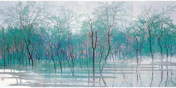 jeden z obrazów Toshio Tabuchi