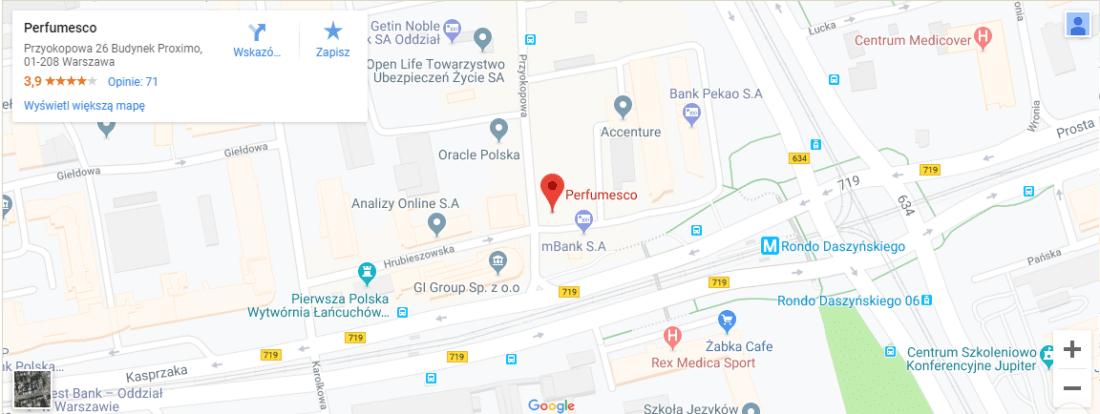 Mapa, jak znaleźć Perfumesco